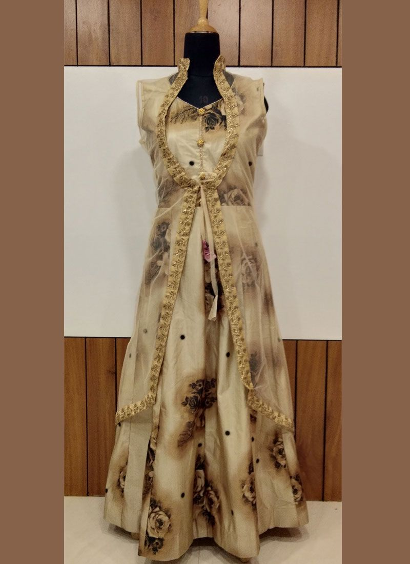 Brown Trendy Gown