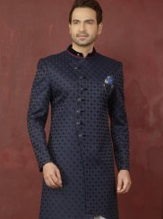 Buttons Jacquard Indo Western in Blue