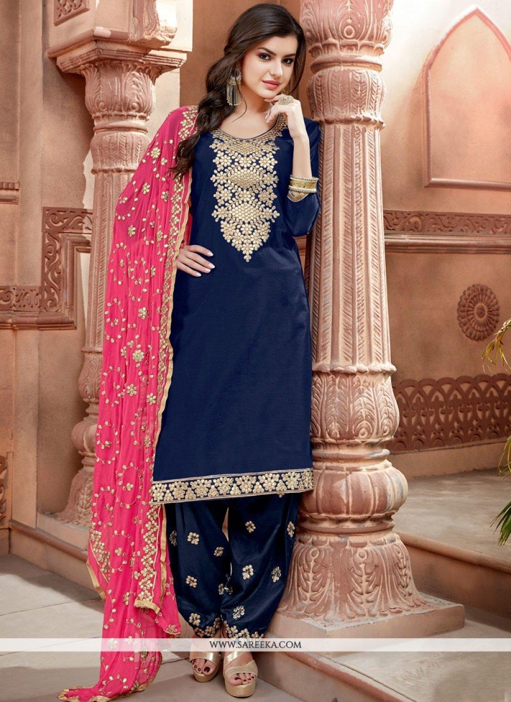 Chanderi Punjabi Suit