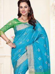 Chanderi Traditional  Saree in Blue