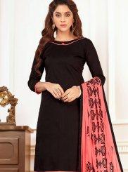 Cotton   Black Churidar Suit
