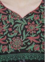 Cotton   Black Printed Casual Kurti