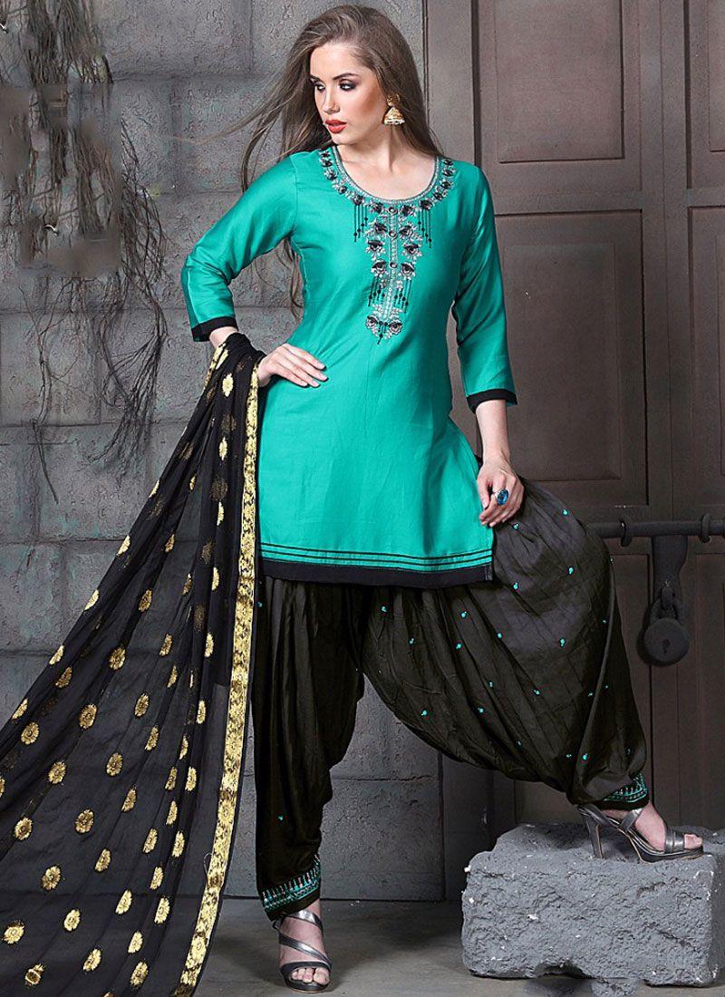Cotton   Blue Designer Pakistani Suit