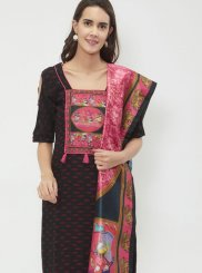 Cotton   Churidar Suit in Black