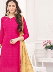Cotton   Churidar Suit in Hot Pink