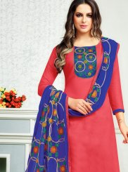 Cotton   Churidar Suit in Rose Pink