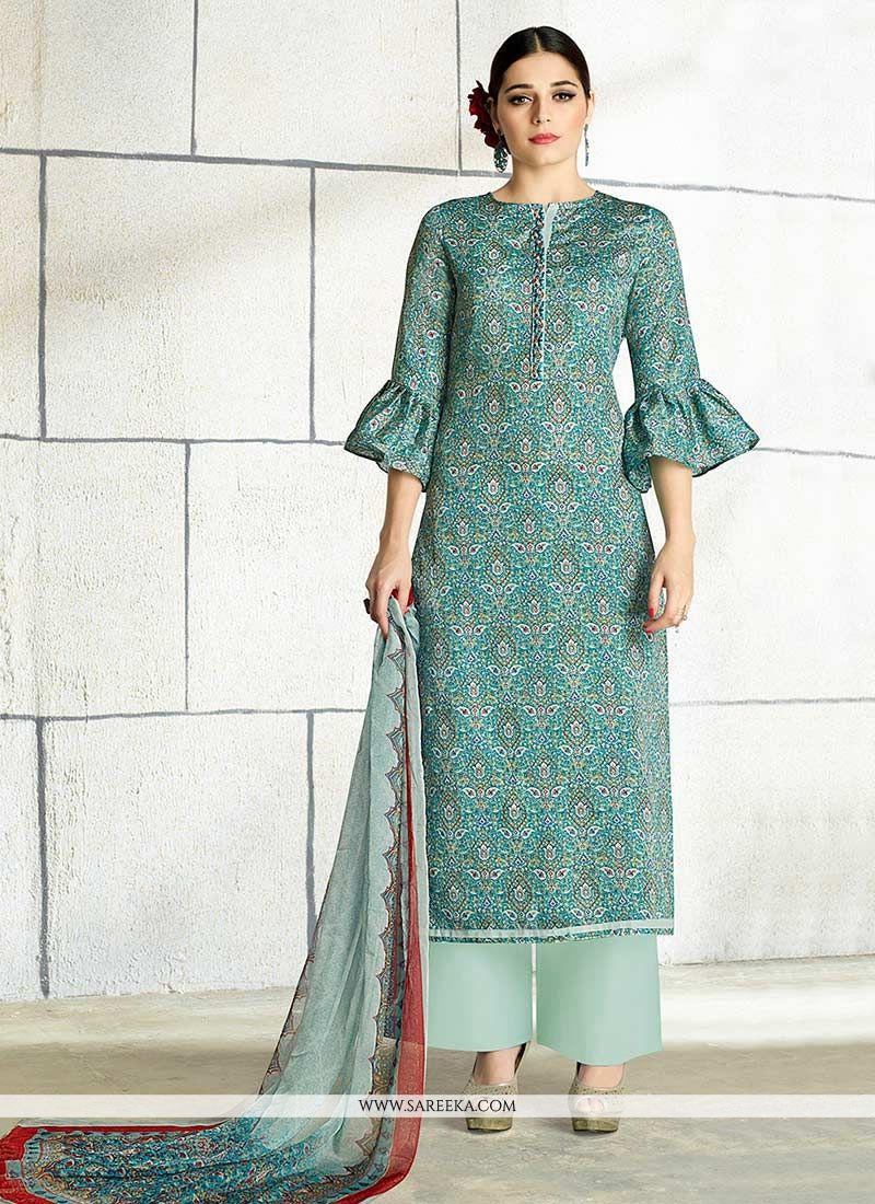 Cotton Designer Palazzo Salwar Suit buy online -