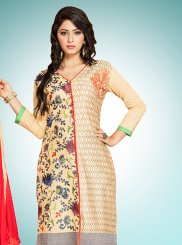 Cotton   Designer Straight Suit