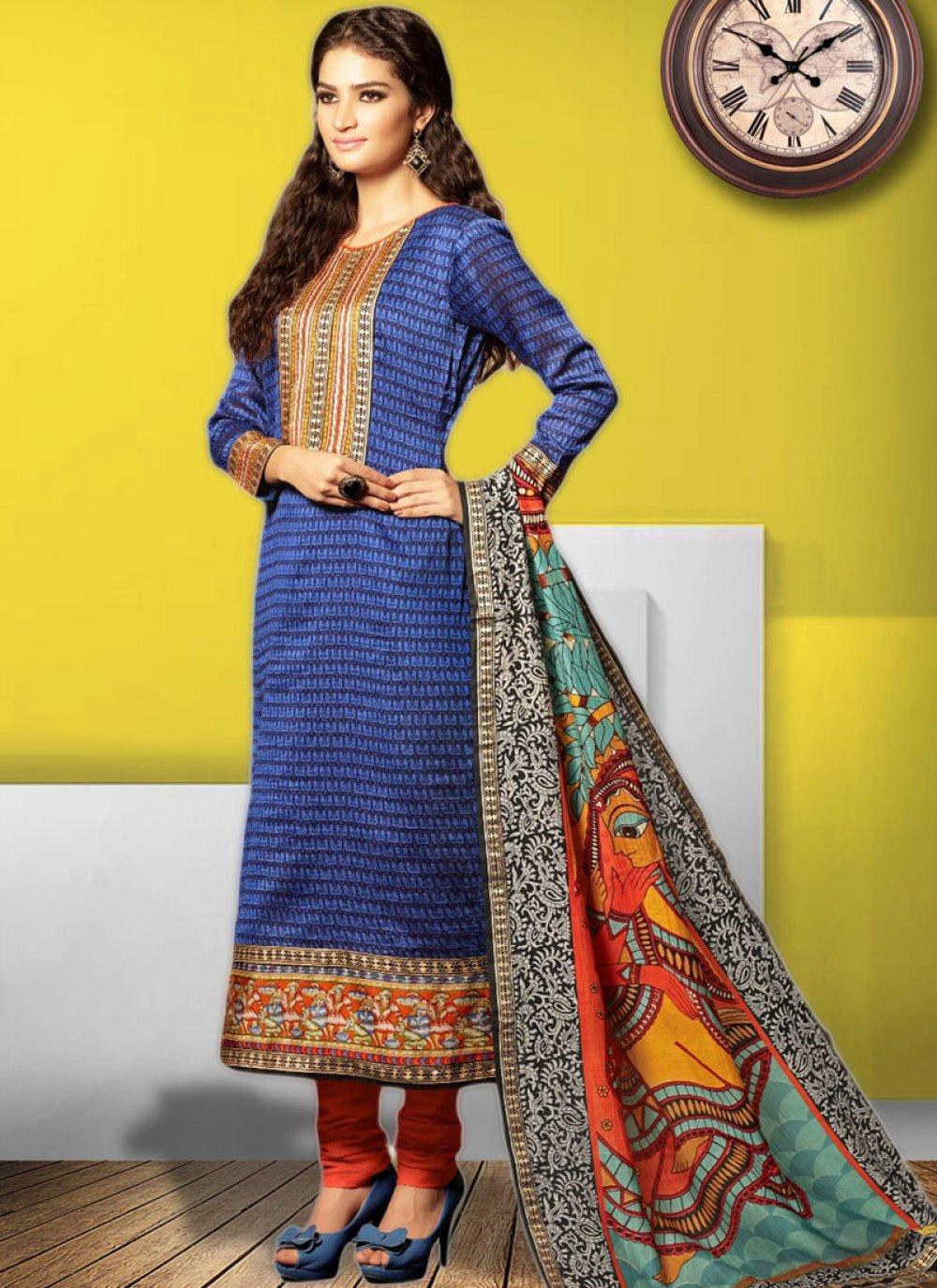 Cotton   Festival Churidar Designer Suit
