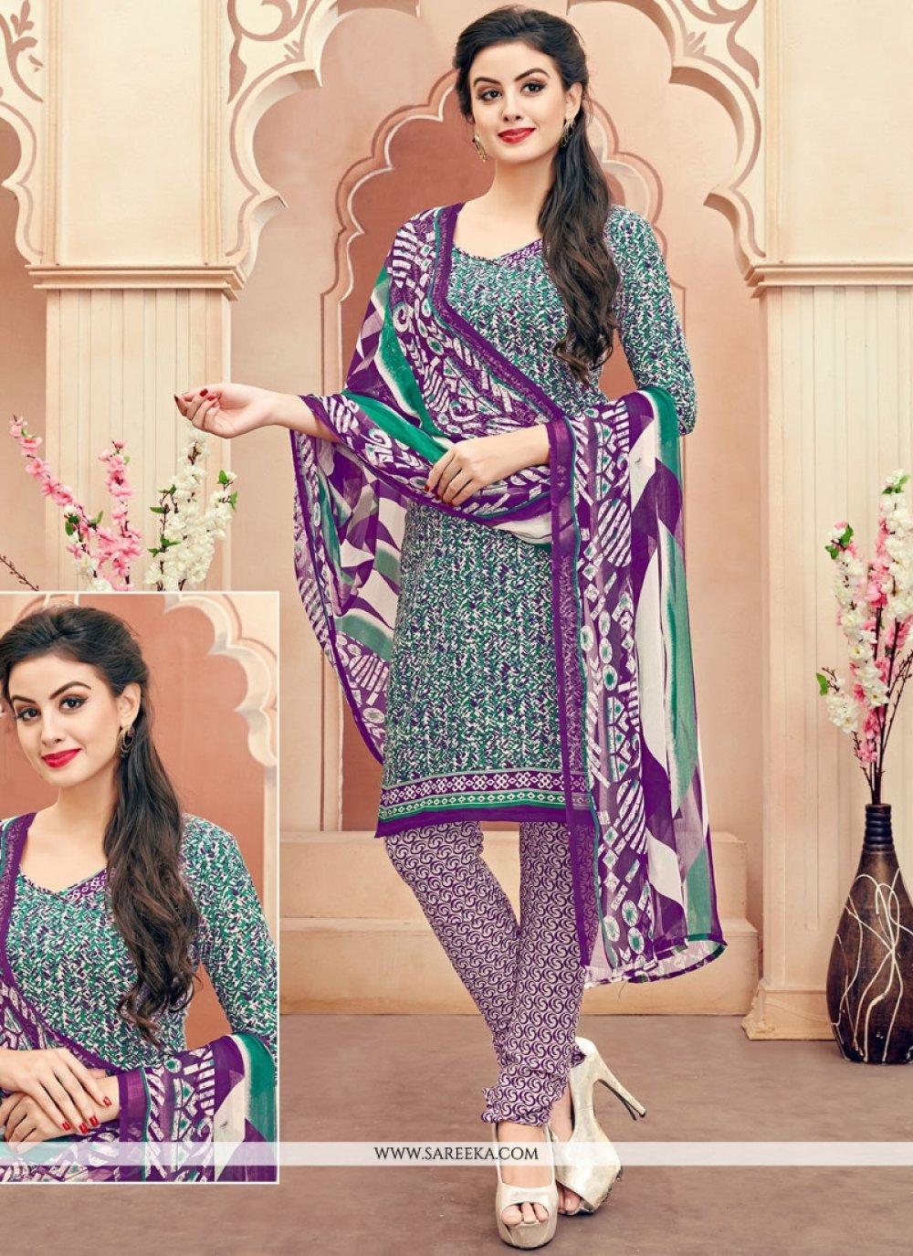 Cotton   Multi Colour Churidar Suit