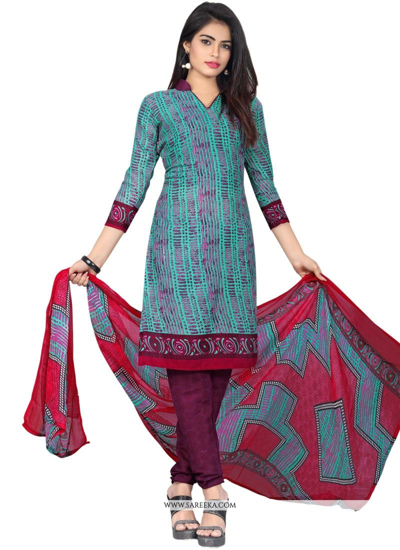 Cotton   Multi Colour Churidar Suit