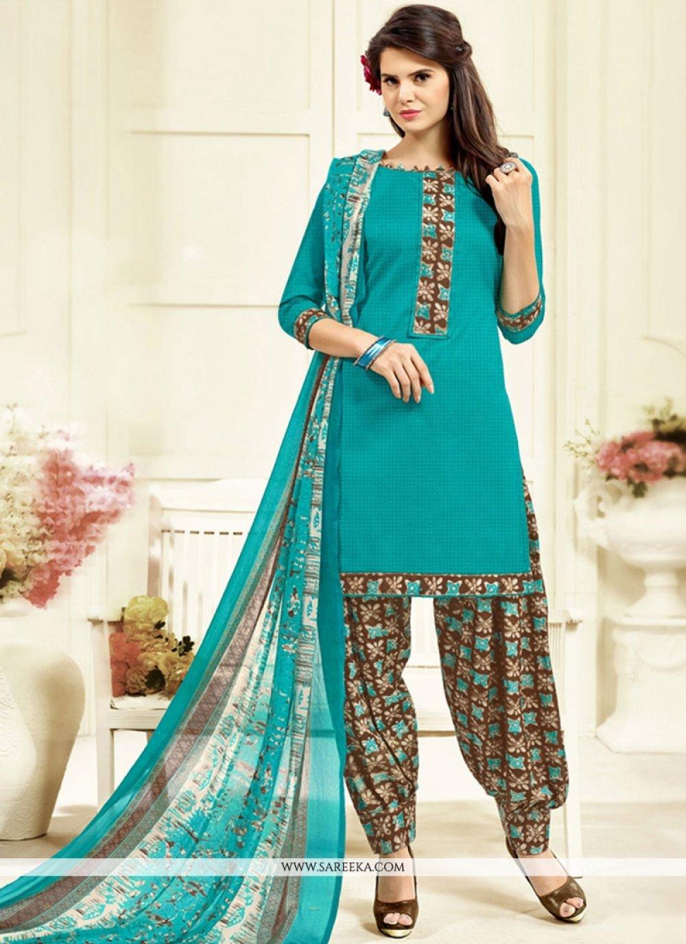 Cotton   Patiala Salwar Kameez
