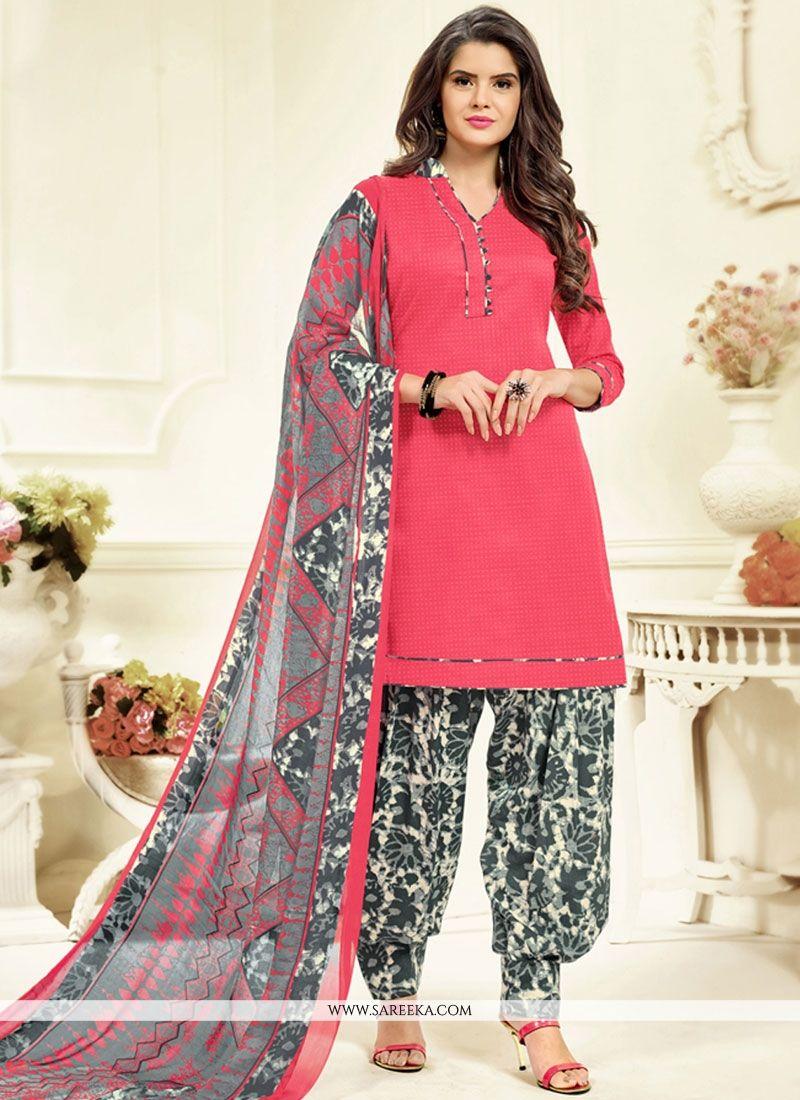 Cotton   Pink Patiala Salwar Kameez