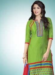 Cotton   Resham Designer Straight Suit