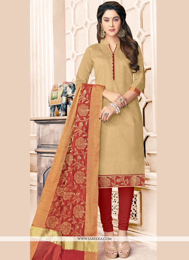 Cotton   Resham Work Salwar Kameez