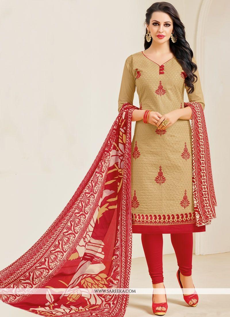 Cotton   Resham Work Salwar Kameez
