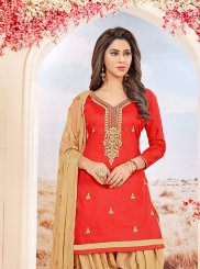Cotton   Salwar Suit in Red