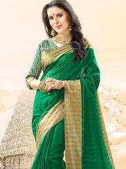 Cotton Silk Green Traditional  Saree
