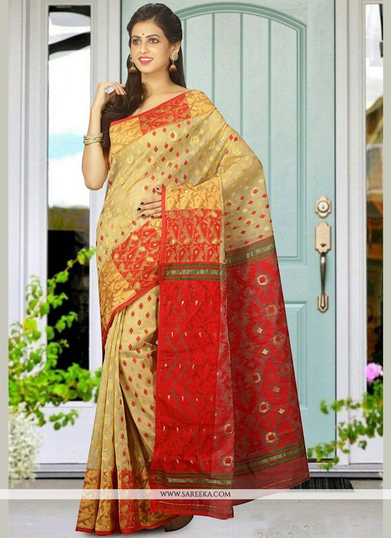 Cotton Silk Multi Colour Traditional  Saree