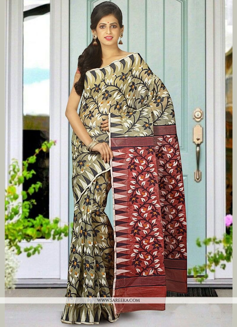 Cotton Silk Multi Colour woven Work Traditional Designer Saree