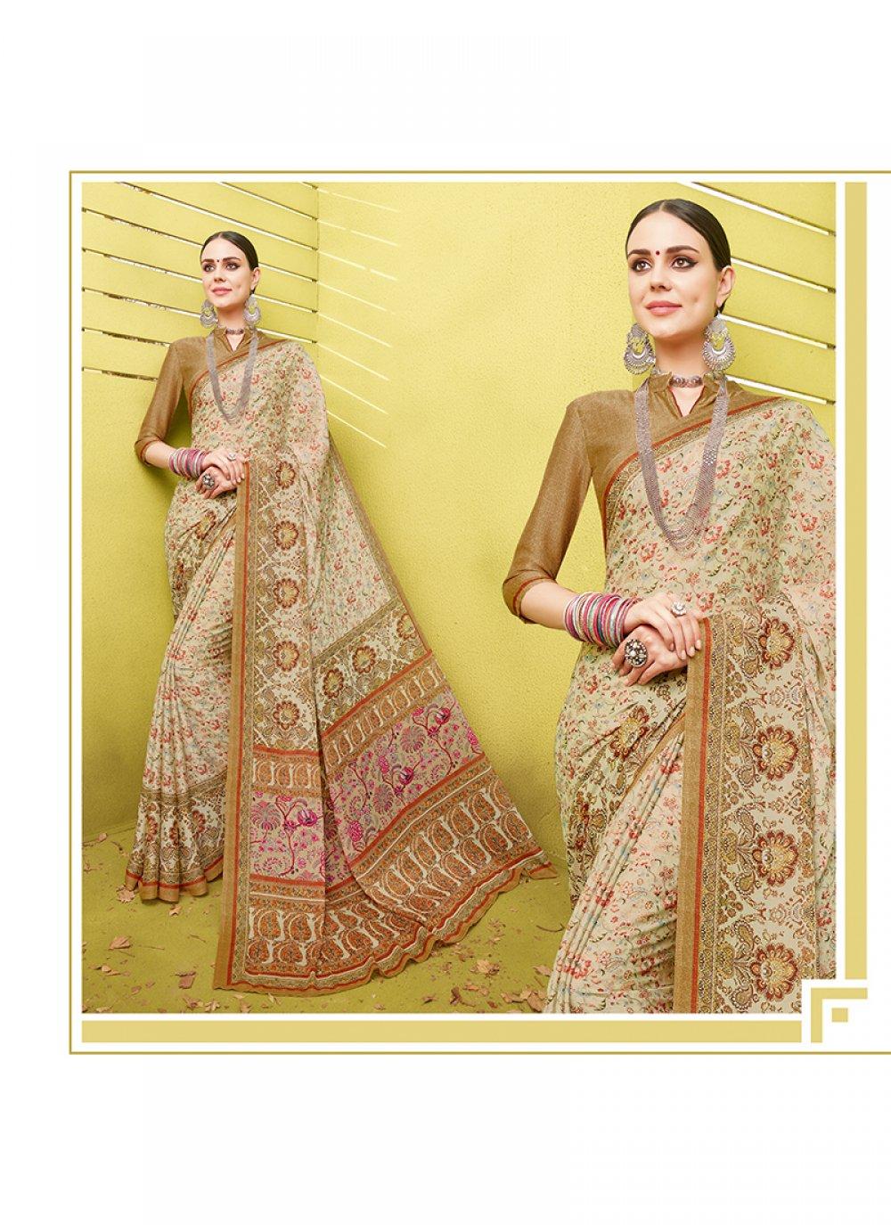Cotton Silk Printed Saree