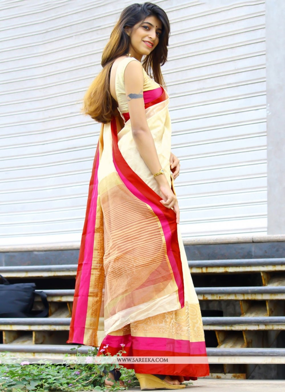 Cotton Silk woven Work Casual Saree