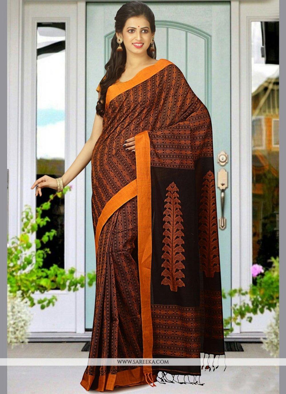 Cotton   woven Work Designer Traditional Saree