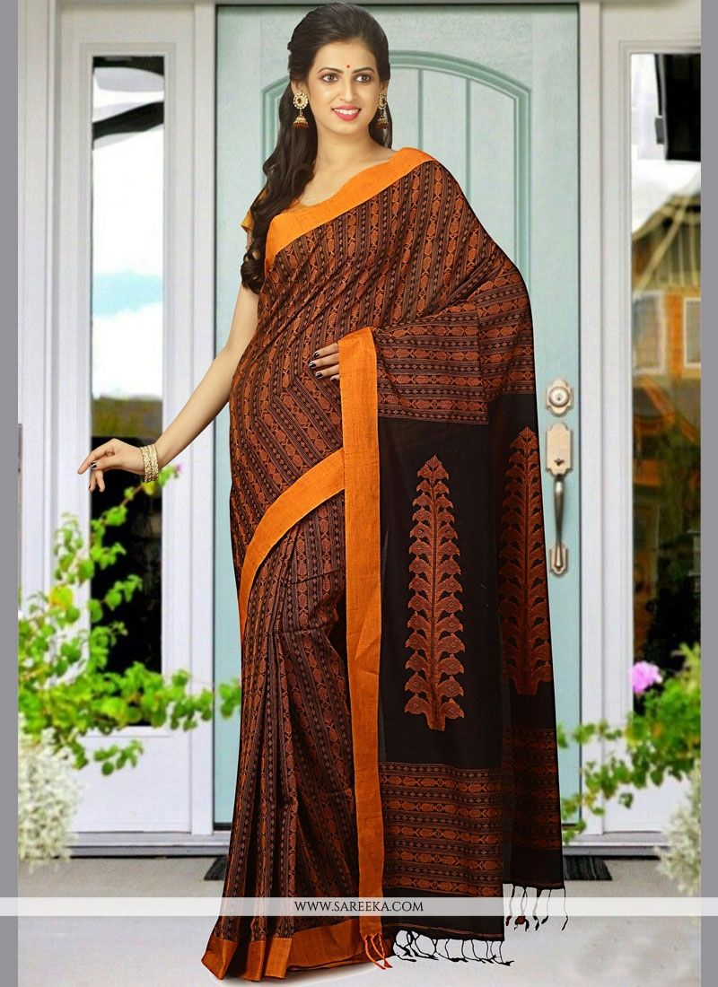 Cotton   woven Work Designer Traditional Saree
