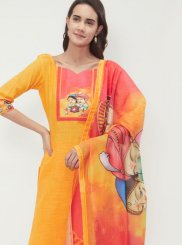 Cotton   Yellow Churidar Suit
