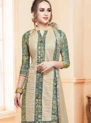 Cream and Grey Resham Festival Salwar Kameez