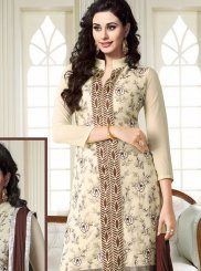 Cream Casual Churidar Suit