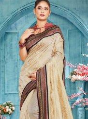 Cream Handloom Cotton Traditional Designer Saree