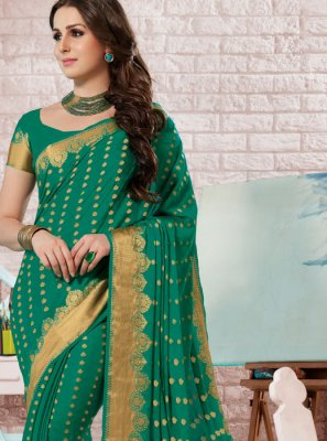 Crepe Silk Fancy Designer Traditional Saree
