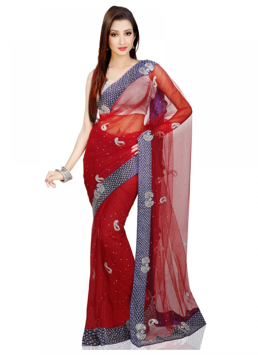 Cutdana Work Designer Bridal Sarees
