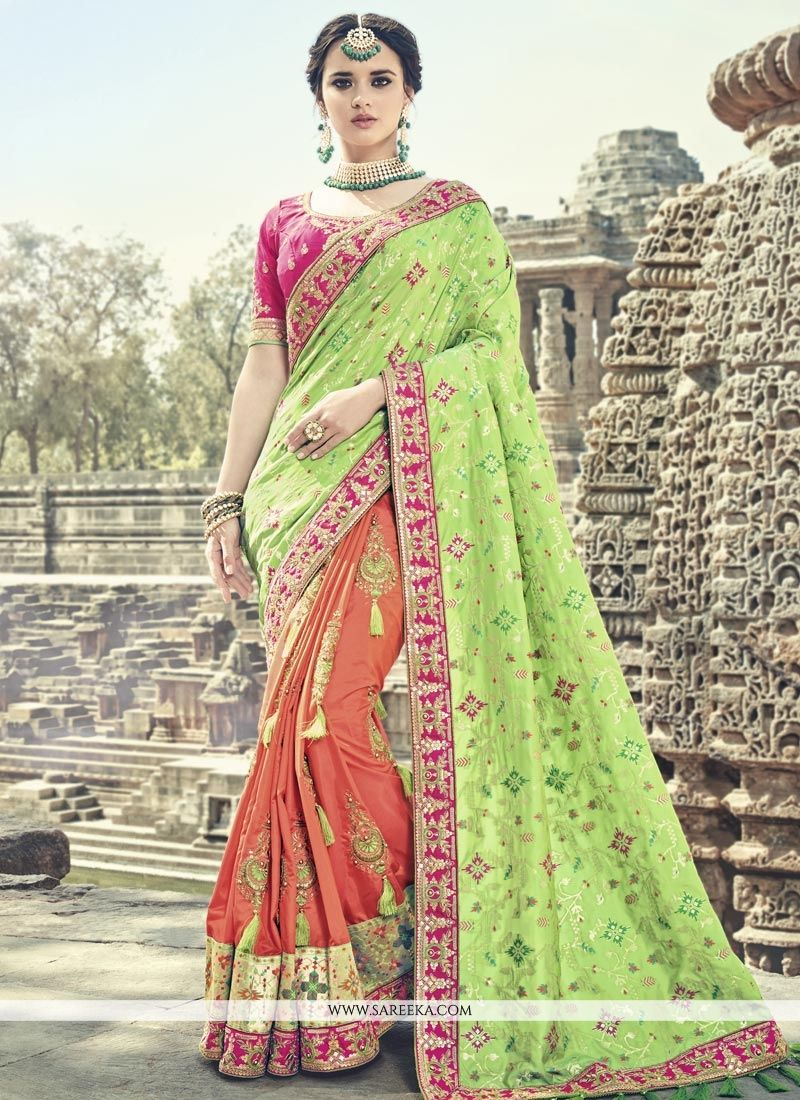 Designer Half N Half Saree For Wedding