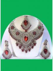 Diamond Multi Colour Necklace Set
