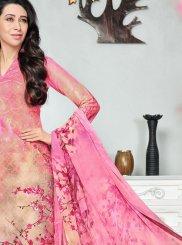 Digital Print Work Cotton   Pink Salwar Kameez
