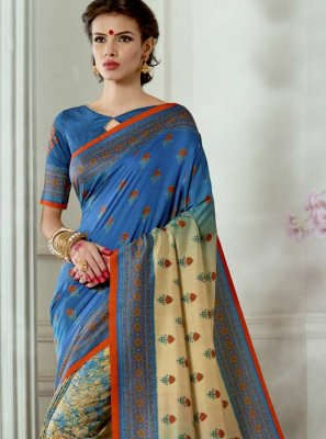 Digital Print Work Multi Colour Casual Saree
