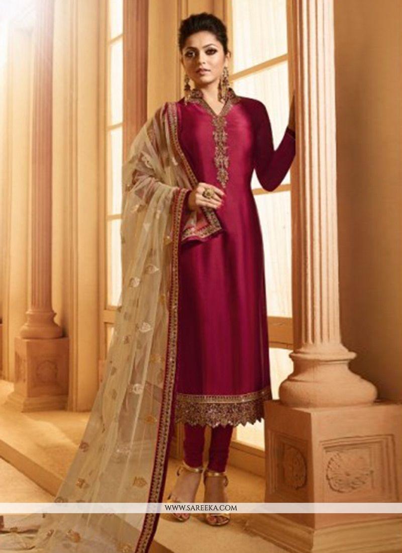 8d76b33ede Buy Drashti Dhami Magenta Churidar Designer Suit Online : 76416 -