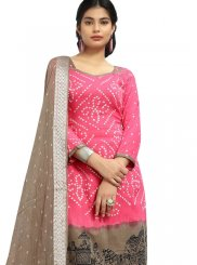 Elegant Pink Color Churidar Suit