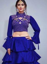 Embroidered Art Silk Readymade Lehenga Choli