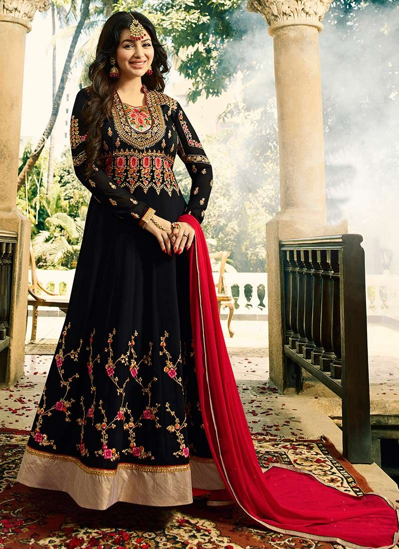 d4e870c88a Buy Embroidered Ayesha Takia Faux Georgette Floor Length Anarkali Suit    89417 -
