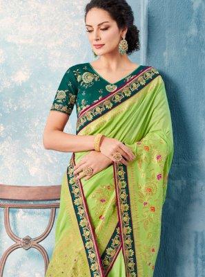 Embroidered Banglori Silk Classic Saree