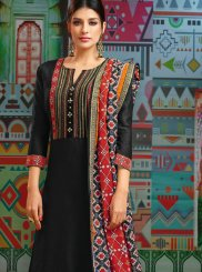 Embroidered Black Designer Palazzo Suit