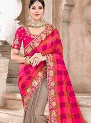 Embroidered Bridal Designer Half N Half Saree