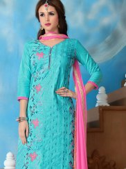 Embroidered Churidar Designer Suit