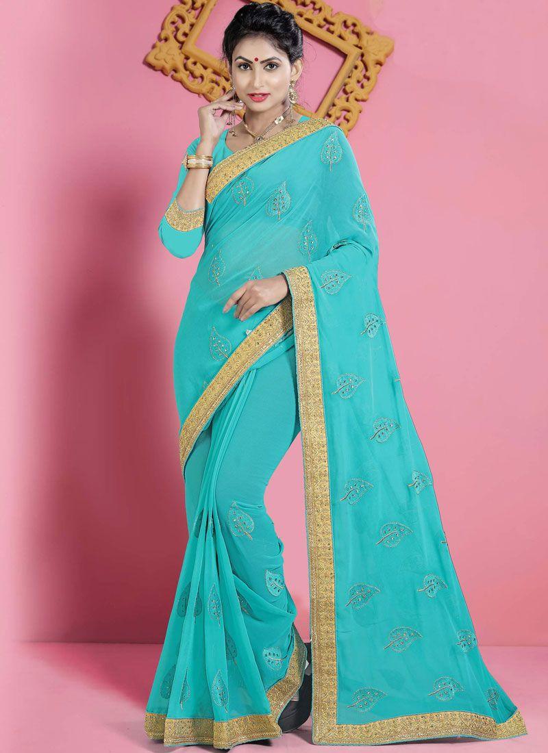 a731d9e03bfad4 Shop Online Embroidered Designer Saree   91915 -