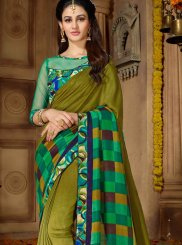 Embroidered Faux Georgette Printed Saree