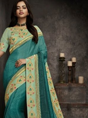 Embroidered Festival Designer Traditional Saree