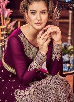 Embroidered Floor Length Anarkali Suit